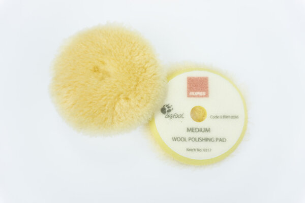 Rupes - Yellow Wool Polierpad Medium 80-90mm (LHR75) 9.BW100M