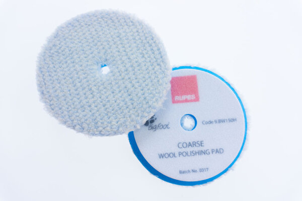 Rupes - Blue Wool Polierpad Coarse130-150mm (LHR15) 9.BW150H