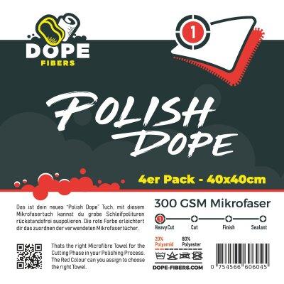 "DopeFibers - PolishDope ""Heavy Cut"" - 4er Pack rot"
