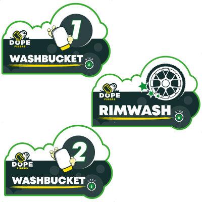Dope Fibers - Eimer Aufkleber all Washbucket Sticker