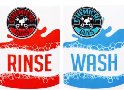 Chemical Guys - Eimeraufkleber-Set Rinse + Wash
