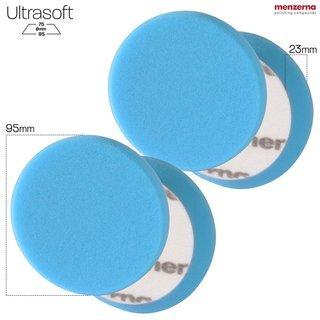 Menzerna - Wax Foam Pad 95mm 2er Pack (Step 4) blau