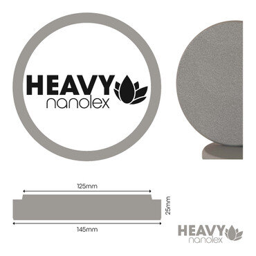 Nanolex - Polierpad Hard Grau 145x25x125