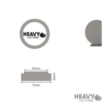 Nanolex - Polierpad Hard Grau 70x22x55