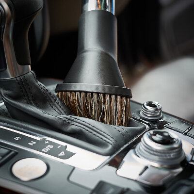 HQS Autopflege - Saugpinsel mit Rosshaarborsten schwenkbar für 35mm Anschluss