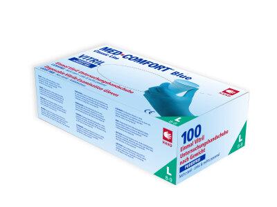 Ampri - Vitril Einmalhandschuhe blau unsteril (100 Stck) L